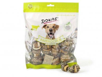 Netradiční žvýkací pochoutky pro psy – uzlíky z hovězí a rybí kůže. Bez konzervantů, umělých barviv a dochucovadel