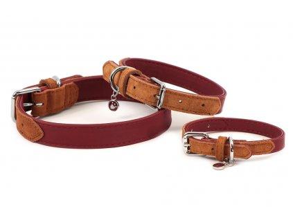 Stylový obojek pro psy ROSEWOOD Soft Touch Red z jemné měkké kůže s leštěnou přezkou.