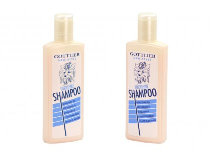 Šampón GOTTLIEB s makadamovým olejem vyvinutý speciálně pro psy plemene yorkšírský teriér. Objem 300 ml.