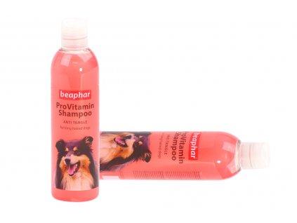 Šampón pro psy BEAPHAR speciálně vyvinutý pro dlouhosrstá plemena psů. Působí proti zacuchání a poškození srsti, objem 250 ml.