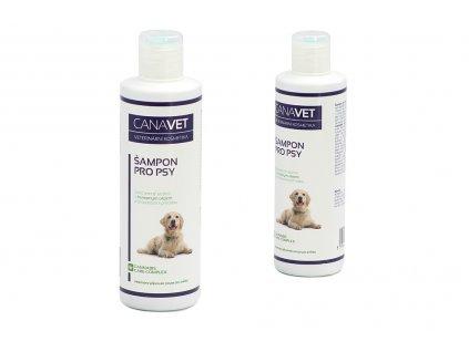 Šampón pro psy CANAVET s Cannabis Care Complexem a antiparazitní přísadou určený pro péči o srst dospělých psů. Objem 250 ml.