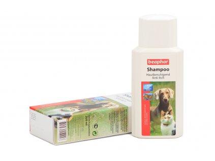 Šampón BEAPHAR vyvinutý pro kočky a psy, kteří často trpí podrážděním kůže (ekzém, po štípnutí hmyzem apod.) Objem 200 ml.