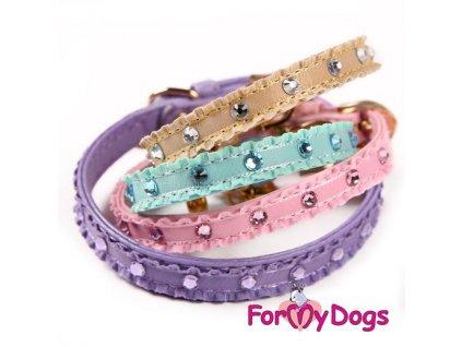 Obojek pro psy For My Dogs s kamínky a přívěskem