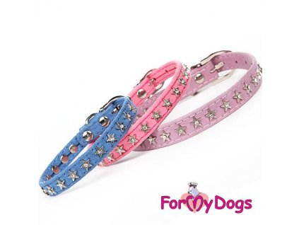 Obojek pro psy se stříbrnými hvězdičkami