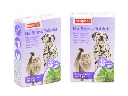 BEAPHAR No Stress jsou 100% přírodní zklidňující tablety pro psy i kočky s výtažky z meduňky, rozmarýnu, lípy a chmelu. Balení 20 tablet.