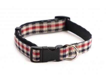 Obojek pro psy ROSEWOOD Red Check z vysokopevnostního nylonu s odolnou rychlozapínací sponou. Výběr velikostí pro všechna plemena psů.