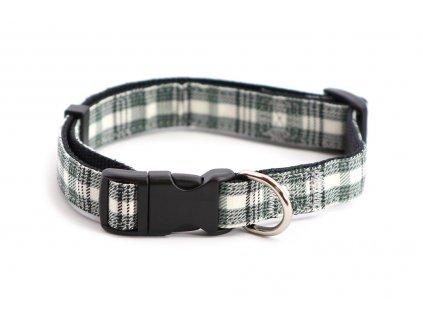 Obojek pro psy ROSEWOOD Grey Check z vysokopevnostního nylonu s odolnou rychlozapínací sponou. Výběr velikostí pro všechna plemena psů.