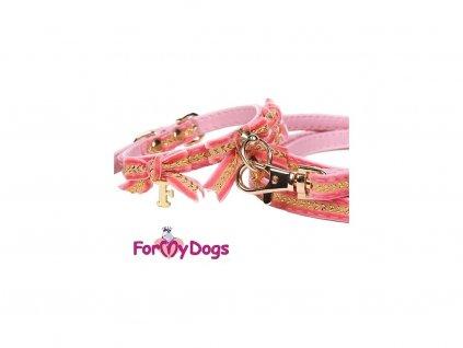 Designový obojek pro psy s mašlemi a přívěskem od FMD