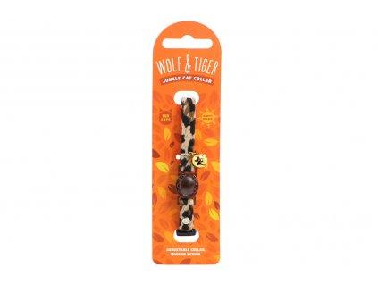 Stylový obojek pro kočky ROSEWOOD z měkoučkého semiše s gepardím vzorem. Bezpečnostní plastová spona, univerzální velikost.