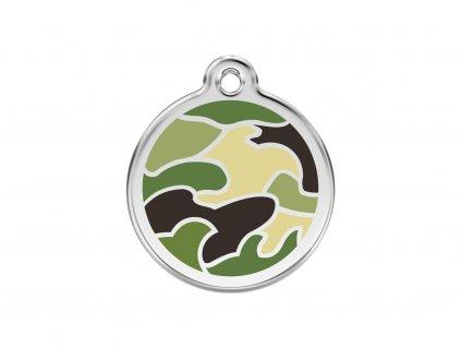Střední ID známka pro psy včetně rytí od Red Dingo. Průměr 30 mm, vhodná i pro kočky.