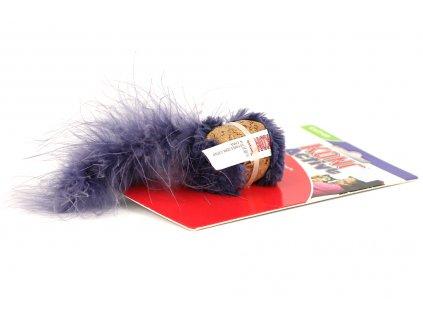 Oblíbená hračka pro kočky – přírodní korek s ptačími pírky. Hračka obsahuje kvalitní catnip, velikost cca 18 cm, barva modrá.