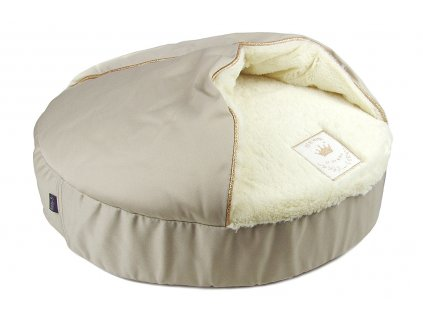 Luxusní kulatý pelíšek pro kočky od BOBBY. Materiál extra jemná a heboučká kožešina, rozměry 50 × 50 × 20 cm.