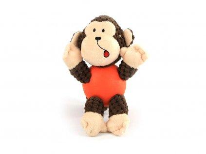 Hračka pro psy od URBAN PUP kombinující bavlněné tělo s odolným gumovým míčkem. Při zmáčknutí píská, velikost hračky cca 18 cm.