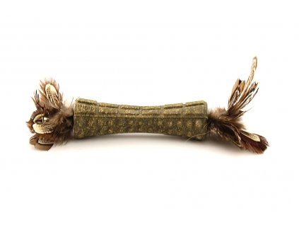 Oblíbená hračka pro kočky s krátkými ptačími pírky. Hračka obsahuje kvalitní catnip, délka cca 17 cm.