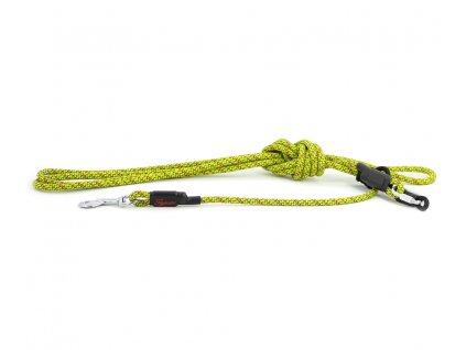 Extra odolné, v ČR ručně vyráběné vodítko pro psy od TAMER. Nastavitelná délka 2 až 4 m, tloušťka lanka 9 mm, karabina 8 cm, barva zelená.