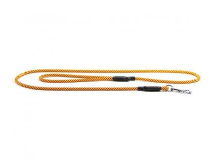 Extra odolné, v ČR ručně vyráběné vodítko pro psy od TAMER. Pevná délka 1,75 m, tloušťka lanka 9 mm, karabina 8 cm. Barva žluto-červená.