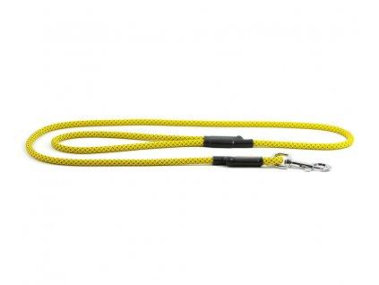 Extra odolné, v ČR ručně vyráběné vodítko pro psy od TAMER. Pevná délka 1,45 m, tloušťka lanka 9 mm, karabina 8 cm. Barva žlutá.
