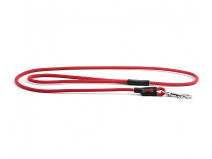 Extra kvalitní, v ČR ručně vyráběné vodítko pro malé a střední psy od TAMER. Pevná délka 1,15 m, tloušťka lanka 6 mm, barva červená.