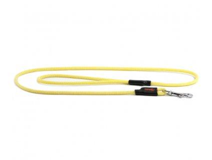 Extra kvalitní, v ČR ručně vyráběné vodítko pro malé a střední psy od TAMER. Pevná délka 1,15 m, tloušťka lanka 6 mm, karabina 6 cm. Barva žlutá.