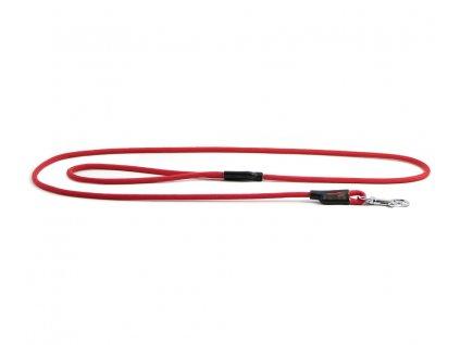 Extra kvalitní, v ČR ručně vyráběné vodítko pro malé a střední psy od TAMER. Pevná délka 1,45 m, tloušťka lanka 6 mm, karabina 6 cm. Barva červená.