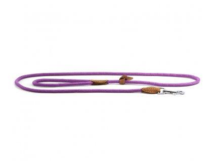 Lehoučké stylové vodítko pro psy DOODLEBONE z měkkého nylonu s koženými doplňky. Délka 170 cm, tloušťka lanka 8 mm, karabina 7,5 cm, reflexní prvky. Barva fialová.