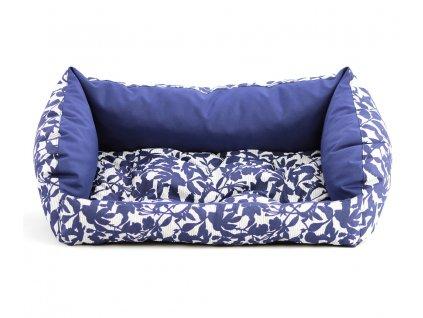 Pelíšek pro psy v praktickém voděodolném provedení, barva modrá. Vyjímatelná podložka, výplň polyuretanová pěna, výběr velikostí.