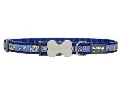 Modrý obojek pro psy Hibiscus Blue 30–45 cm