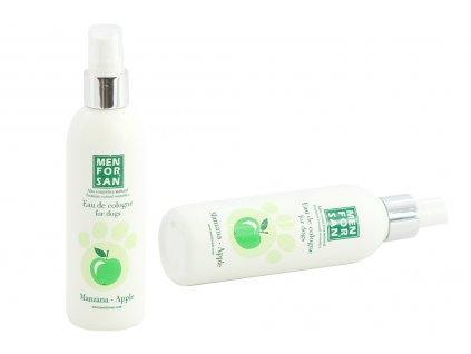 Jemný příjemný parfém pro psy šetrný k jejich čichu i pokožce. Vůně zeleného jablka, objem 125 ml.