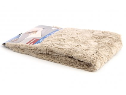 Měkoučká plyšová deka s dlouhým chlupem ochrání vaši sedačku, křeslo, potahy v autě a další citlivé povrchy před poškrábáním a znečištěním. Rozměry deky 100 × 70 cm, barva béžová.