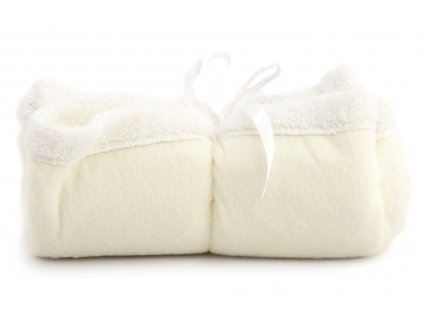 Měkoučká plyšová deka pro psy ochrání vaši sedačku, křeslo, potahy v autě a další citlivé povrchy před poškrábáním a znečištěním. Rozměry deky 70 × 70 cm, barva bílá.