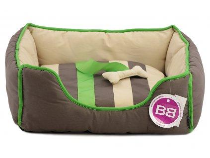 Pohodlný pelíšek pro psy s hračkou od BOBBY. Vyjímatelný polštář, možnost praní v pračce, protiskluzové dno. Barva šedá.