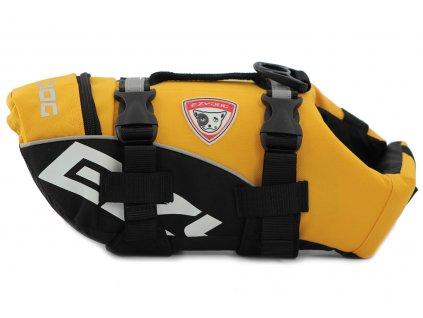 Plovací vesta pro psy od EZYDOG s unikátní vztlakovou pěnou, reflexními prvky a pohodlnou a promyšlenou konstrukcí. Barva žlutá.