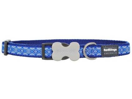 Modrý obojek pro psy Snake Eyes Blue 41–63 cm
