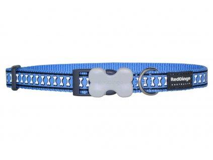 Reflexní obojek pro psa, modrý