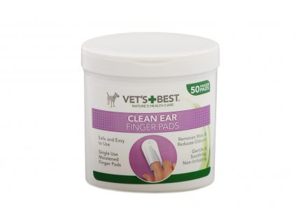 Čistící ubrousky na uši pro psy – jemně odstraňují maz a nečistoty, vhodné pro pravidelné používání.