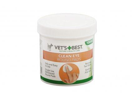 Čistící ubrousky na oči pro psy – jemně odstraňují maz a nečistoty z okolí očí, vhodné pro pravidelné používání. Balení 100 ks.