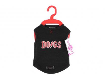 Stylové tričko pro psy i fenky od BOBBY. Materiál 100% bavlna, originální potisk, barva černá. Lze ho prát v pračce.