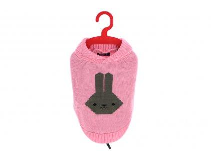 Stylový svetr pro psy i fenky od BOBBY. Materiál 100% akryl, originální vzor, barva růžová. Lze ho prát v pračce.