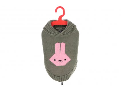 Stylový svetr pro psy i fenky od BOBBY. Materiál 100% akryl, originální vzor, barva šedá. Lze ho prát v pračce.