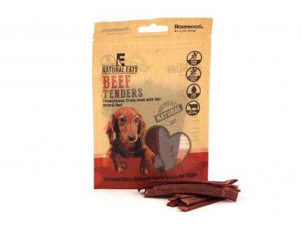 Pamlsky pro psy pro zdravé mlsání – 100% přírodní proužky z hovězího masa. Neobsahují lepek ani obiloviny.