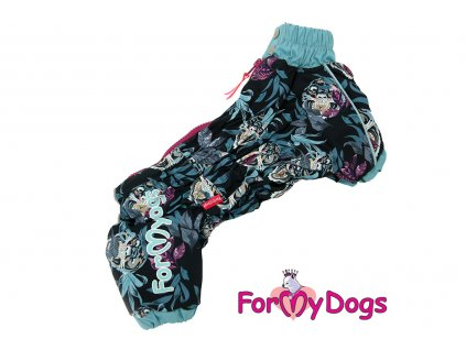 Obleček pro psy – teplý zimní overal TIGER od ForMyDogs z voduodpudivého materiálu. Zapínání na zip zádech, podšívka z jemné kožešinky.