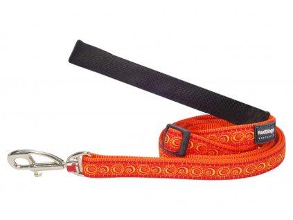 Vodítko pro psa, oranžové
