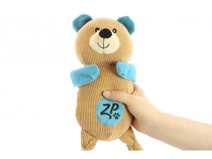 Roztomilá hračka pro psy – pískací plyšový medvěd. Velikost hračky cca 40 cm, vhodný pro malá a střední plemena psů.
