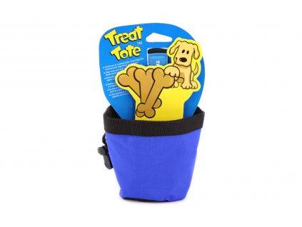 Pamlskovník – zásobník na psí pochoutky je nepostradatelná pomůcka pro psy ve výcviku. Snadno ho připevníte na opasek nebo lem kalhot a výcvik může začít. Barva modrá.