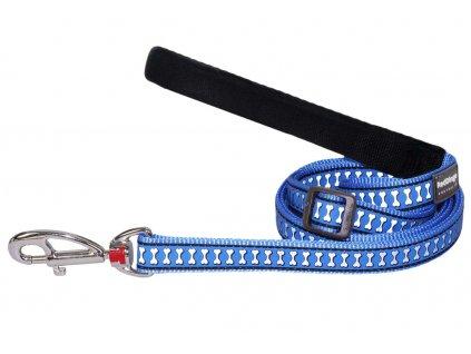 Reflexní vodítko pro psa, středně modré
