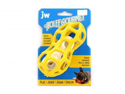 Hračka pro psy GOURMET je odolná gumová hračka vhodná na ukrytí pamlsku. Je ideální pro dlouhé zabavení vašeho čtyřnohého kamaráda.