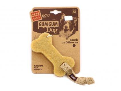 Kousací hračka pro malé a střední psy vyrobená z přírodního kaučuku, který při kousání stimuluje a masíruje dásně.