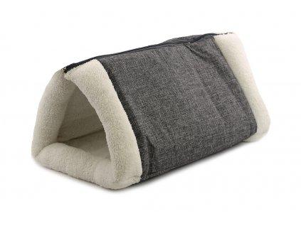 Originální pelíšek pro kočky Snuggle Plush kombinuje styl s komfortem. Měkoučký otevřený pelíšek snadno proměníte v pohodlnou podložku.