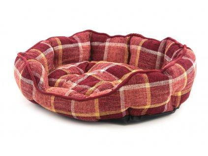 Pelíšek pro psy ROSEWOOD dostupný v několika velikostech. Pevný prošívaný materiál, měkké nadýchané bočnice, barva vínová.