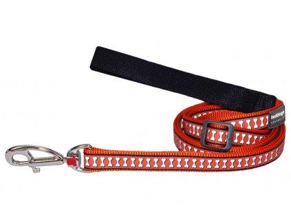 Reflexní vodítko pro psa, oranžové